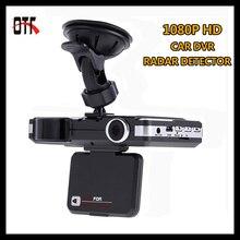 2 en 1 multifuncional detector de radar dvr 1080 p hd cámara del coche del registrador dash cam g-sensor motion detección de vídeo registrator