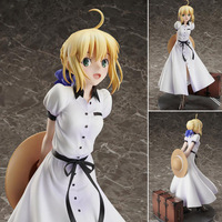 24cm Fate/stay night Saber British trip Action figure toys doll Christmas gift with box
