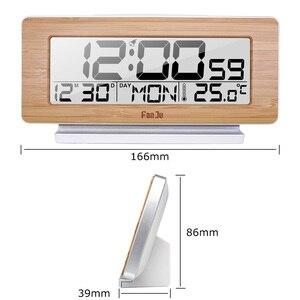 Image 5 - FanJu FJ3523 デジタルアラーム時計 LED 電子 12 H/24 960h アラームとスヌーズ機能温度計バックライトデスクトップテーブル時計
