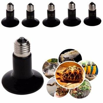 110V Far Infrared Ceramic Emitter Heating Light Lamp For Pet Reptile Brooder Black 50/75/100/150/200W C42 1