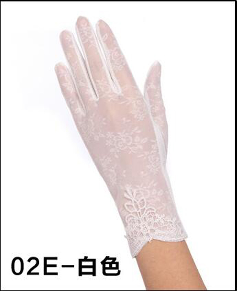 HTB1OmHTRFXXXXXsXXXXq6xXFXXXb - Sexy Summer Women UV Sunscreen Short Sun Female Gloves Fashion Ice Silk Lace Driving Of Thin Touch Screen Lady Gloves G02E