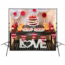 Love Photography Backdrops Birthday Party Backdrop For Photography Kids Birthday Background For Photo Studio Foto Achtergrond
