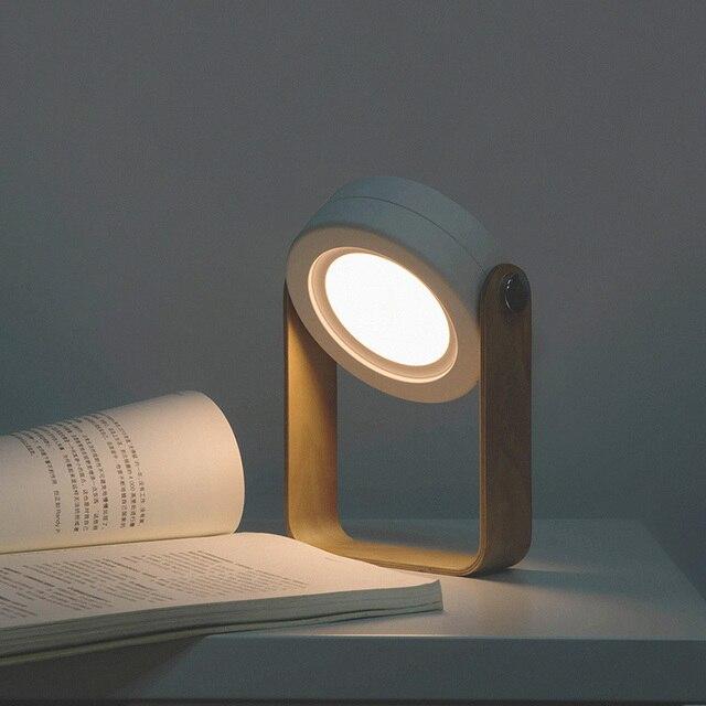 NEW Creative Wooden Handle Portable Lantern Lamp Telescopic Folding Led Table Lamp Charging Night Light Reading Lamp