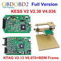Newest ECU Programmer K TAG KTAG V2.13 + V230 KESS V2 + BDM FRAME Full Adapters No Tokens K-TAG Master Version DHL Free