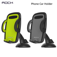 Rock Car Mobile Phone Holder Stand Adjustable Support 6.0 inch 360 Rotate For Iphone 6 Plus/5s For Samsung Note 4 S6 edge S5 H69