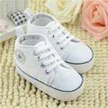 2017 Infant Soft Bottom Sneakers Baby First Walker Shoes for Boys Girls Newborn Toddler Babe Canvas Star Kids Prewalker Shoes