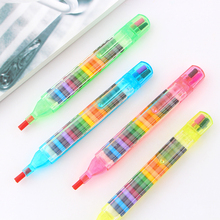 2Pcs/lot 20 Colors Crayons Stacker Pencils Drawing Crayon Graffiti Pen Gift for Children Kids Oil Pastel