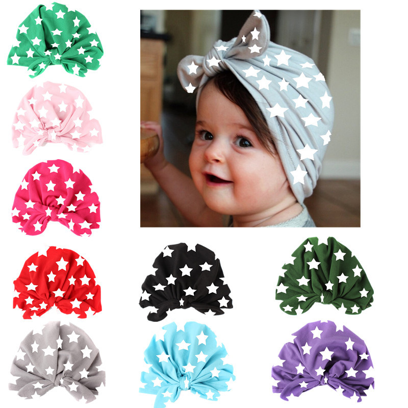 DreamShining Spring Cotton Baby Hat For Girl Boy Beanie Printed Cap Kids Bohemia Style Newborn Photography Props Hat Accessories