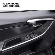 Cubierta de panel de reposabrazos de puerta de coche, botones de elevador de cristal embellecedores, pegatina de marco para Volvo XC60, S60, V60, accesorios automáticos LHD