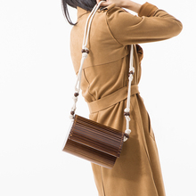 Handbags Designer Wooden Beads Bamboo Festival Woven Bag Stitching Hollow Bohemian Clutch Holiday Shoulder Female