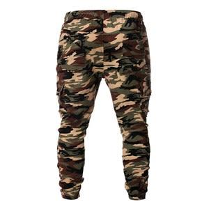 Image 4 - Pantaloni sportivi da uomo pantaloni 2019 nuovi uomini mimetici pantaloni Casual Hip hop pantaloni mimetici pantaloni elastici Sport Leggings larghi larghi