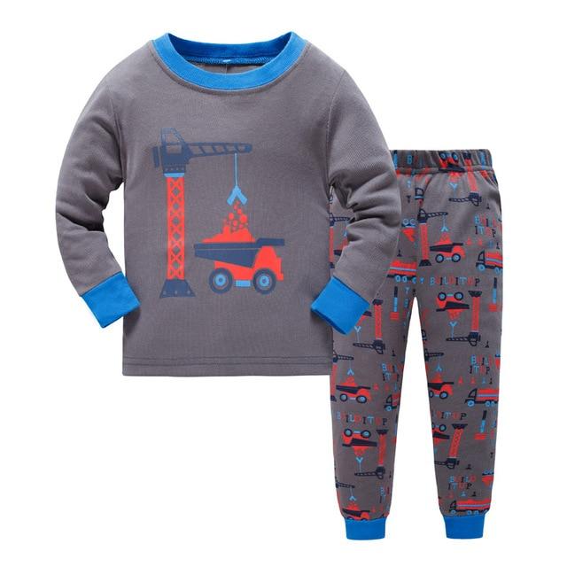 d95f81565 Building Baby Boys Clothes Suits 100% Cotton Children Pajamas Kids ...