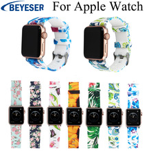 цена на Colorful Soft Silicone Replacement Sport Band For Apple Watch Series 4/1/2/3 42mm 38mm Wrist Bracelet Strap for watch series