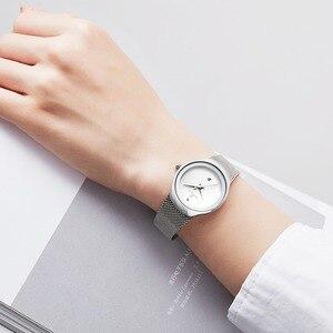 Image 4 - Zegarki damskie NAVIFORCE Top luksusowa marka Lady Fashion Casual prosty stalowy siatkowy zegarek na rękę z paskiem, bransoletą prezent dla dziewczyn Relogio Feminino