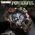 Skmei impermeable moda casual deportes relojes cuarzo de los hombres del ejército militar reloj digital hombres reloj al aire libre de gran alcance