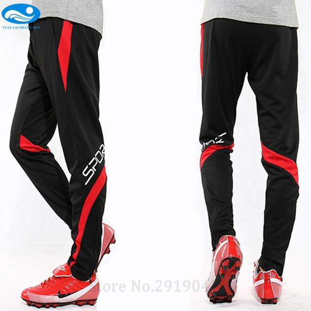 2dd79292242fa Invierno Fútbol Pantalones Jersey Delgado deporte Pantalones entrenamiento  de fútbol profesional Pantalones de correr chándal Pantalones