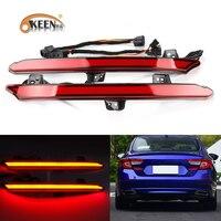 OKEEN 2pcs Car LED Tail Light For 2018 2019 Honda Accord 10th Rear Bumper Reflector Light Driving Braking Turn Signal Lamp