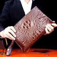 Высокое качество 100% Таиланд крокодиловой кожи Для мужчин сумки модные роскошные брендовые конверт мешок Винтаж Бизнес сумка человек необх