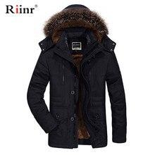 Мужская зимняя куртка с меховым воротником и капюшоном Новая модная теплая подкладка из шерсти мужская куртка и пальто ветрозащитная Мужская парка Casaco