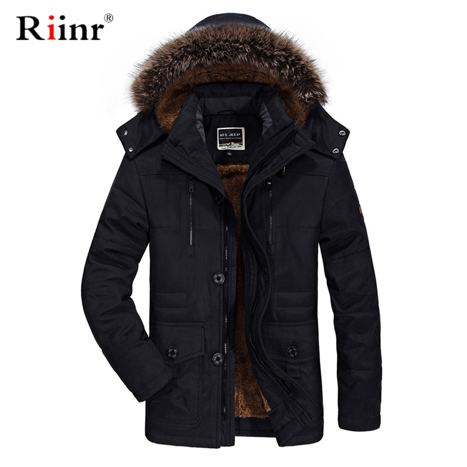 Fur Collar Hooded Men Winter Jacket 2019 New Fashion Warm Wool Liner Man Jacket And Coat Windproof Male Parkas Casaco