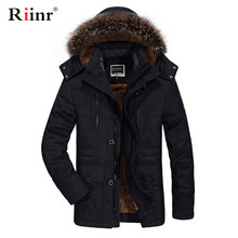 Fur Collar Hooded Men Winter Jacket 2019 New Fashion Warm Wool Liner Man Jacket and Coat Windproof Male Parkas Casaco