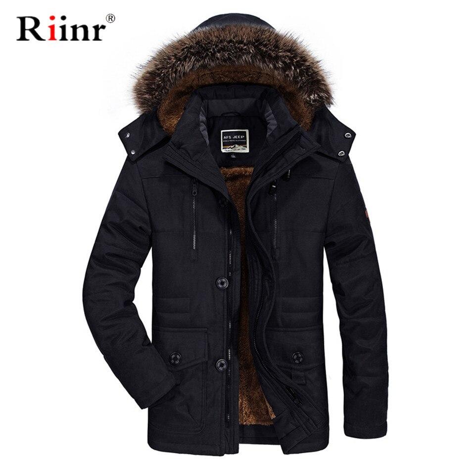 Gola de pele com capuz jaqueta de inverno 2019 nova moda quente lã forro homem jaqueta e casaco à prova vento masculino parkas casaco