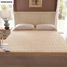 luxury 100 cotton quilted mattress filled massage thicken 7cm memory foam mattress