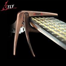 Aroma guitarra acústica cuerdas de guitarra capo capo aleación de aluminio cojín de silicona proteger 12 colores entrega al azar