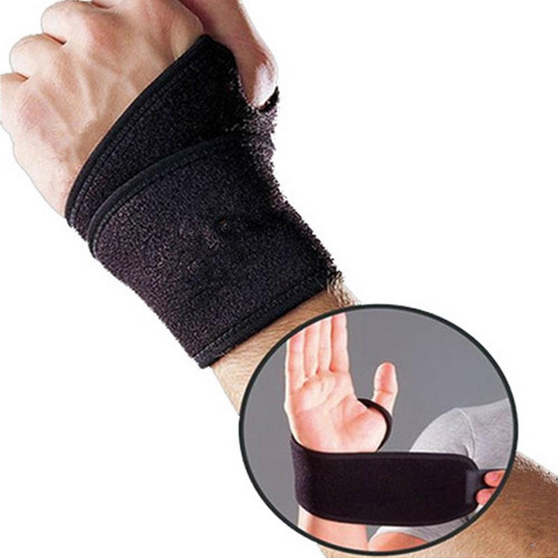 Hand Palm Wrist Health Care Support Brace Adjustable Breathable Gym Strap Protector Bandage For Tennis Sport Wristband