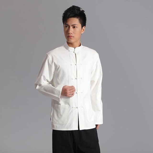 5ad263c6110 Traditional chinese clothing for men tang suit linen fluid tops garment kung  fu suits for men blouse shirt hanfu kungfu uniform
