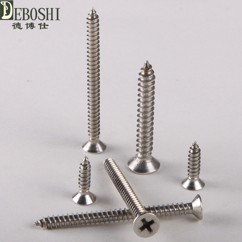 304 stainless steel countersunk head tapping screws countersunk head self-tapping screw M3.5 * 30 1000pcs m2 4 5 6 8 10 12 14 stainless steel 304 flat countersunk head self tapping screw