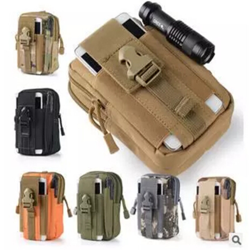 Sport Casual Tactical Military Outdoor Belt Molle Waist Bag Men's Sport Casual Waist Fanny Pack Phone Case Camping Hunting Bags