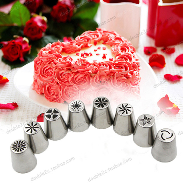 Decorator Tips aliexpress : buy russian flower icing piping stainless steel