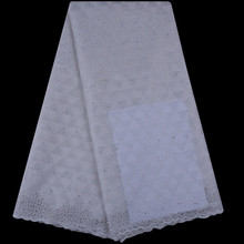 White African Lace Fabric High Quality African Cord Lace 2018 Nigerian Laces Guipure Embroidery For Wedding Party Dress 1074
