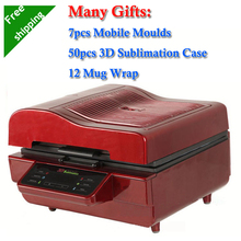 7 Mobile Moulds 50pcs Sublimation Blanks Case 12 Mug Wrap Printing Package 3D Sublimation Vacuum Machine