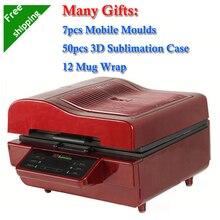 7 Mobile Moulds 50pcs Sublimation Blanks Case 12 Mug Wrap Printing Package 3D Sublimation Vacuum Machine Heat Press ST3042