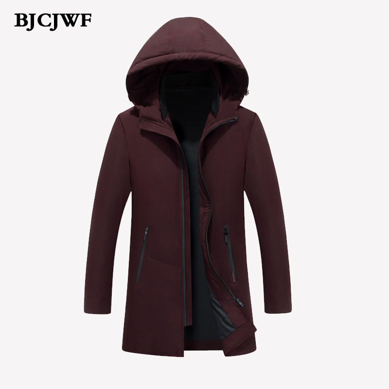 BJCJWF 2017 new brand   Down   jackets thick keep warm men White duck   down     Coat   high quality hooded   down   Parka winter   coat   Male Slim