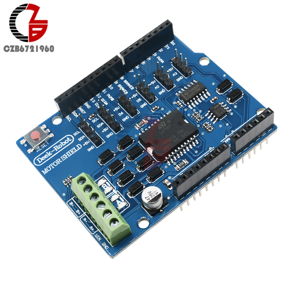 L298P Shield R3 DC Motor Driver Module 2A H-Bridge 2 way Dual Full-bridge Driver Shield for Arduino UNO 2560 NW