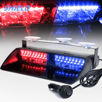 SHIELD 16 LEDs 18 Flashing Modes 12V Car Truck Emergency Flasher Dash Strobe Warning Light Day Running Flash Led Police Lights
