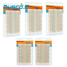 5Pcs/Lot DIY 400 Points Solderless Bread Board Breadboard 400 PCB Test Board For ATMEGA PIC Arduino UNO 1602 LCD Free Shipping