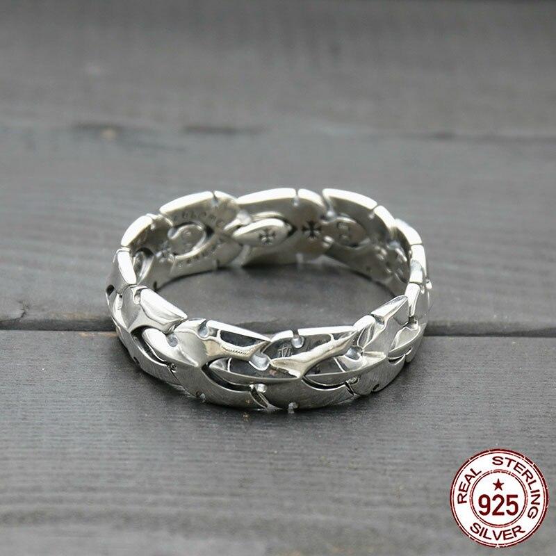 100% S925 Sterling Silver Braccialetto di Stile di Modo di Personalità di Stile Punk Prepotente Croce Stile Taillet Inviare Regalo per L'amante hot