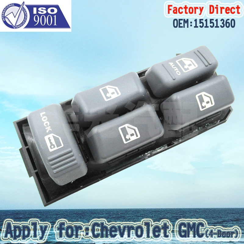 Factory Direct Auto Electric Master Power Window Switch Apply For 1995-2005 Chevrolet GMC LHD 17Pins 15151360