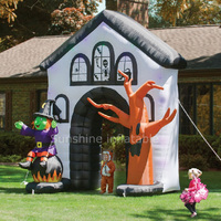 Украшение для сада дом с привидениями и ведьма И мертвое дерево Хэллоуин надувная АРКА, высокое качество надувная Хэллоуин входная арка