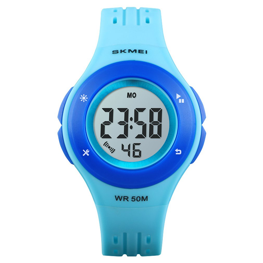 SKMEI 1455 Children Watch Multifunctional LED Digital Wristwatch 50M Waterproof Sports Watch For Boys Girls Alarm Watch