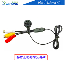 New Super pequeno cor câmera de vídeo 960 P/600/800TVL lente de 3.7mm com Linha de áudio noite IR visão HD Mini CCTV Segurança em casa câmera