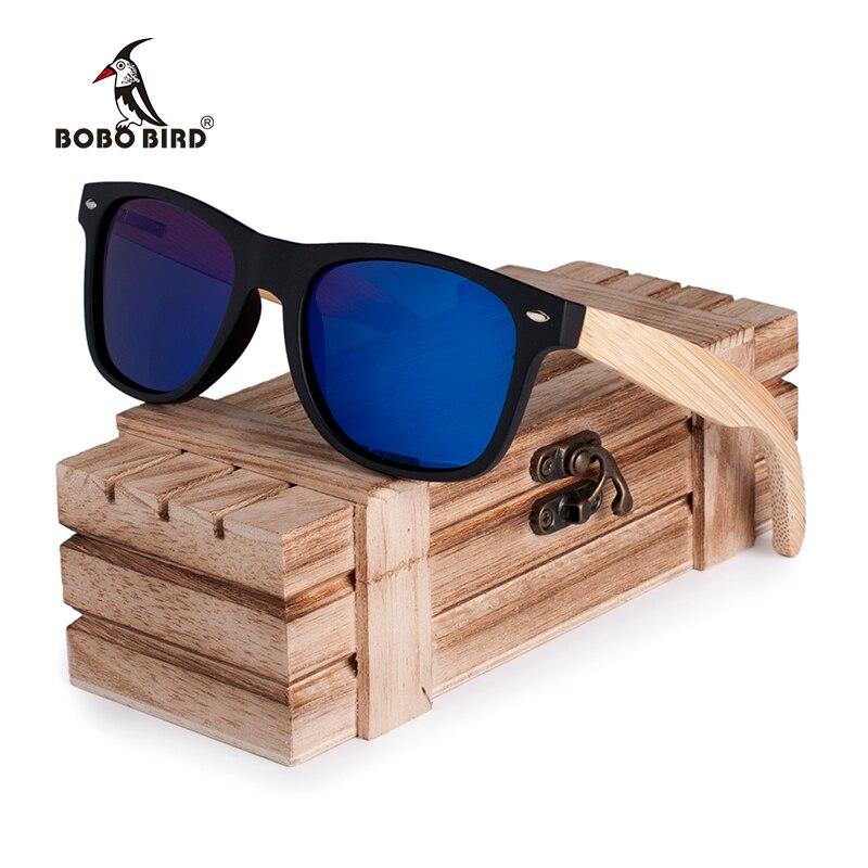 BOBO BIRD 2017 New Gifts Men s Sunglasses Bamboo Legs Polarized Lens Cool Sun Glasses With