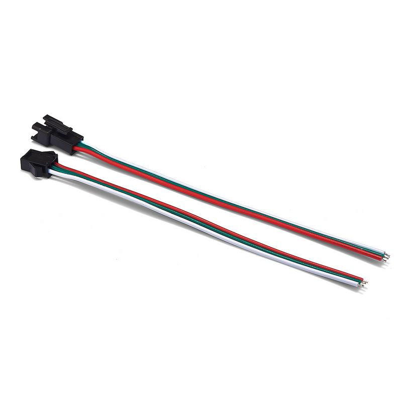 1000pairs 3 2 4 5 Pin SM JST Connector Cable 22AWG 0.3mm Extension Wires For WS2811 WS2812 LED Pixels Rigid Strip Battery Case