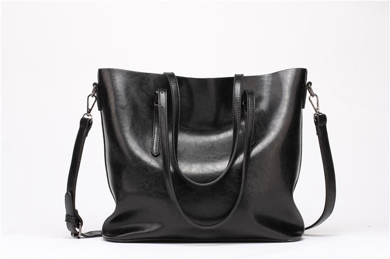 DIDA BEAR Brand Women Leather Handbags Lady Large Tote Bag Female Pu Shoulder Bags Bolsas Femininas Sac A Main Brown Black Red 3