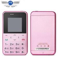New Mini Card Phone AEKU S7 Color Screen TF Card Credit Card Phone Quad Band Low