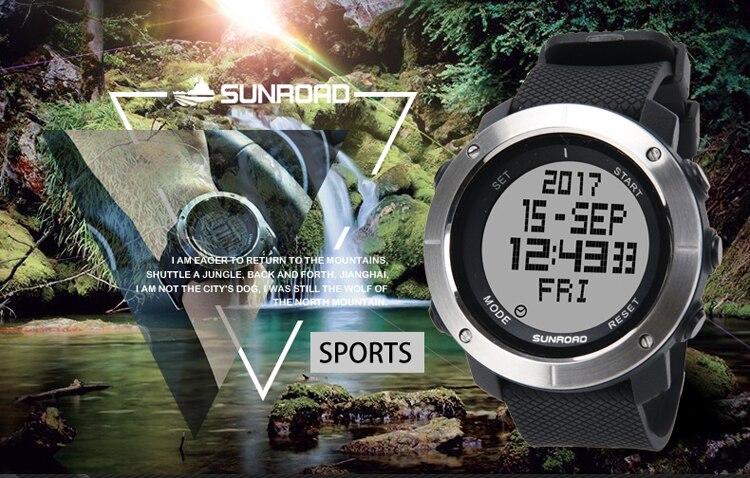 Sunroad FR1001 sports watch single description photo EN 01